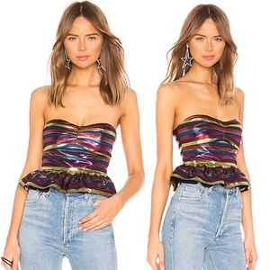 """LOVERS + FRIENDS """"Pia"""" Top in rainbow"""